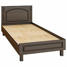 Кровать односпальная Компасс-мебель Элизабет ЭМ-17 90х200 см, коричневый