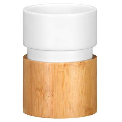 Стакан Kleine Wolke Vento White, 7,1х10 см., бамбук, цвет коричневый