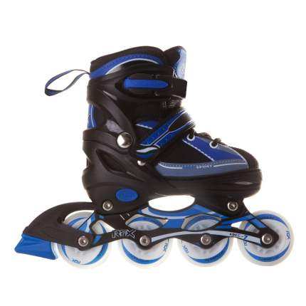 Раздвижные роликовые коньки RGX Fantom Blue LED подсветка колес S 30-33