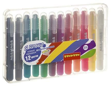 Набор гелевых карандашей для рисования Bondibon 12 цветов металлик