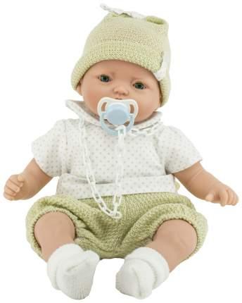 Пупс Nines d'Onil Малыш в шапке, в бежевой одежде, озвученный