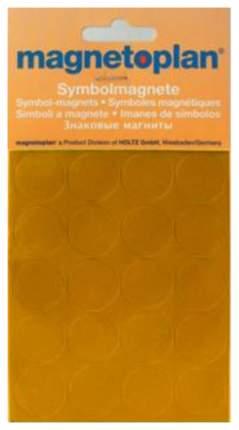 Набор магнитов Magnetoplan 1253244 Символьные из 20-ти штук 20 мм Оранжевый