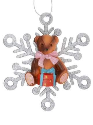 Елочная игрушка Феникс Present мишка, 11x1,5x11 см