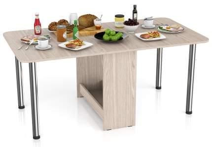 Стол-книжка обеденный Мебельный Двор СО-04 ясень шимо светлый 170х90х74 см