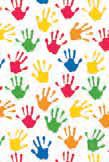 """Бумага упаковочная """"Hands"""", 0,7x1,5 м"""