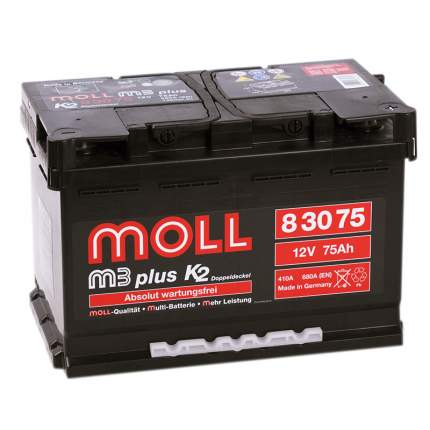 Аккумулятор MOLL M3plus 75R 680A 276x175x190 83075