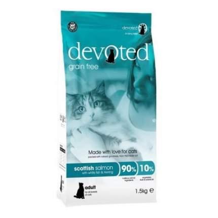 Сухой корм Devoted беззерновой с шотландским лососем для кошек 1,5 кг