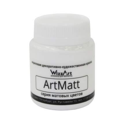 Краска акриловая Matt 80 мл WizzArt Черный матовый WT1.80 WizzArt
