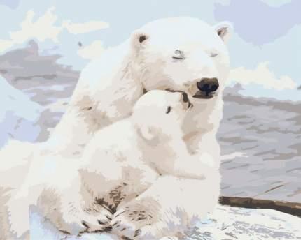 """Живопись по номерам Живопись по Номерам """"Белые медведи"""" 40x50"""