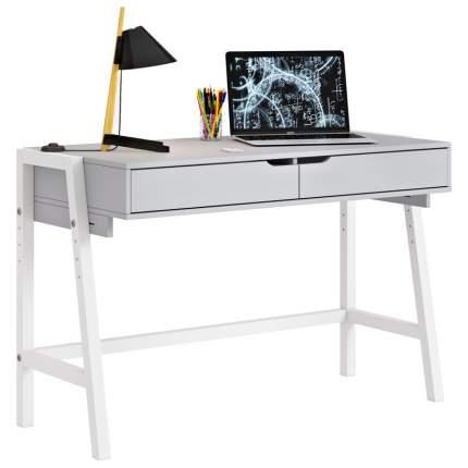 Детский стол письменный Polini kids Mirum 1440 низкий, серый/белый