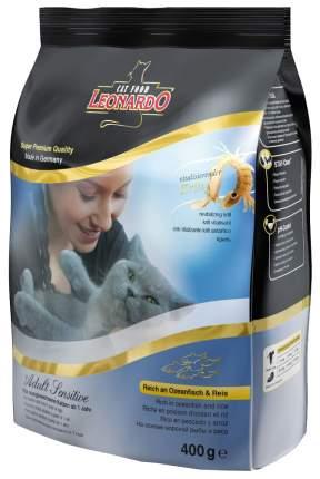 Сухой корм для кошек Leonardo Adult Sensitive, рыба и рис, 0,4кг