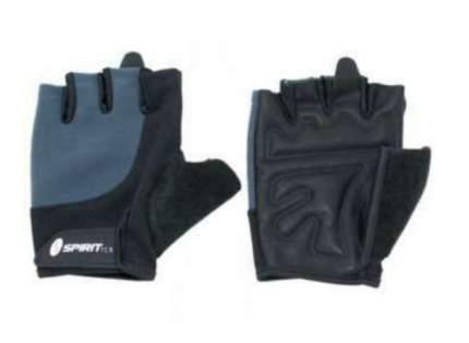 Перчатки для тяжелой атлетики и фитнеса Spirit Fitness W-02, черные/синие, M