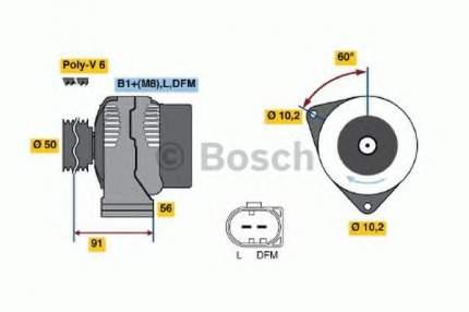 Генератор Bosch 0986047550