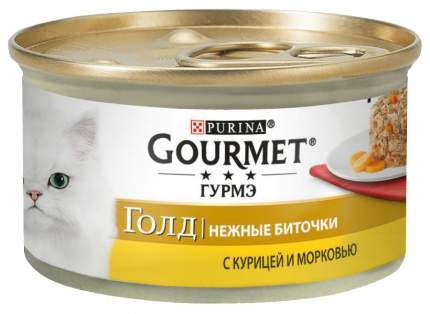 Консервы для кошек Gourmet Gold, курица, 24шт, 85г