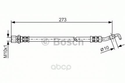 Шланг тормозной системы Bosch 1987476212 задний
