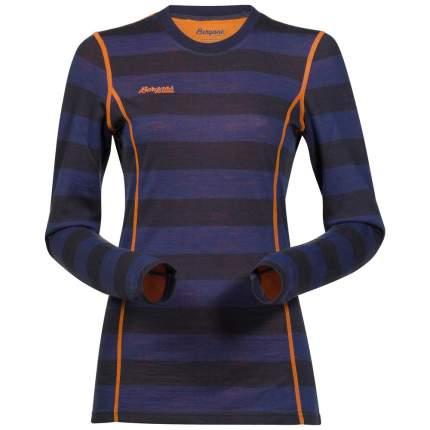 Лонгслив Bergans Akeleie Lady Shirt 2019 женский темно-синий/оранжевый, L