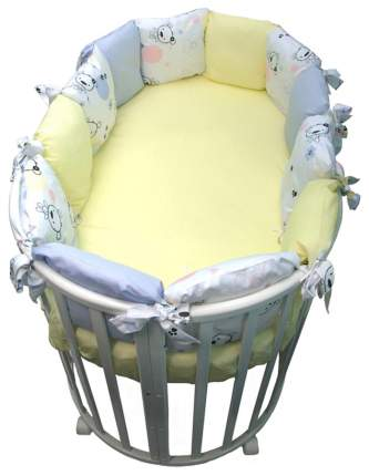 Борт из подушек Конфетти голубой Сонный Гномик