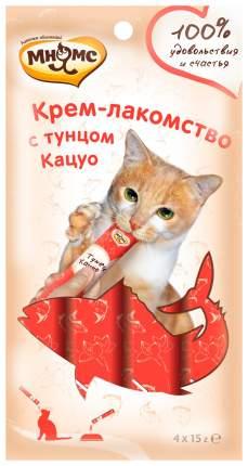 Лакомство для кошек Мнямс Крем-лакомство с тунцом Кацуо 4 шт х 15 г