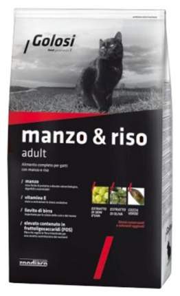 Сухой корм для кошек Golosi Adult, говядина и рис, 0,4кг