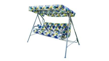 Садовые качели Olsa Бари с821 204x121x144,5 см синий, желтый