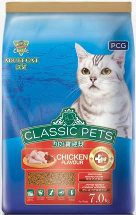 Сухой корм для кошек Classic Pets, курица, 7кг