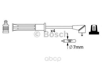 Провода высоковольтные комплект BOSCH 0986357256