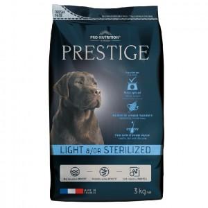 Сухой корм для собак Flatazor Prestige Light/Sterilised, птица, злаки, 3кг