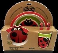 Посуда детская Eco Baby набор Божья коровка