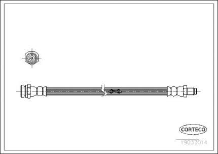 Шланг тормозной системы CORTECO 19033014