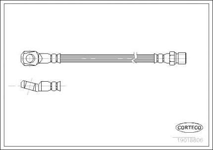 Шланг тормозной CORTECO 19018806