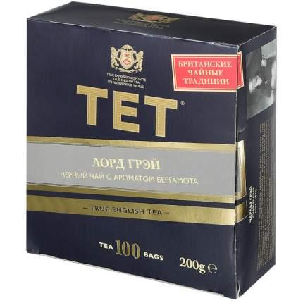 Чай Tet лорд грей черный байховый 100 пакетиков