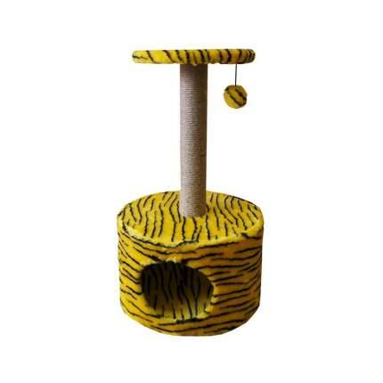 Комплекс Zooexpress Цилиндр с полкой, меховой жаккардовый для кошек 42 х 42 х 72 см