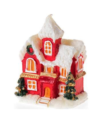 Свеча новогодняя Snowmen Е70492 Домик 10,5 см