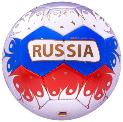 Футбольный мяч Jogel 2018 Russia №5 white/blue/red