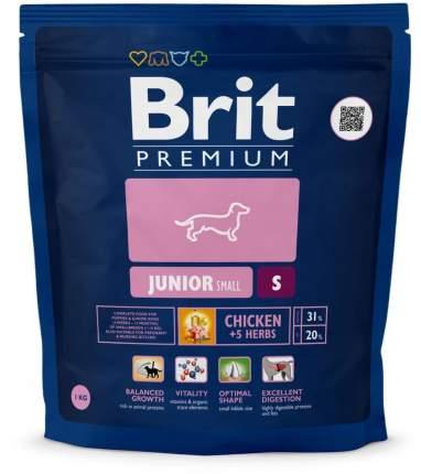 Сухой корм для щенков Brit Premium Junior S, для мелких пород, курица, 1кг