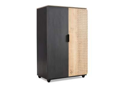 Платяной шкаф Cilek 20.58.1004.00 90х55х140, чёрный/светлое дерево
