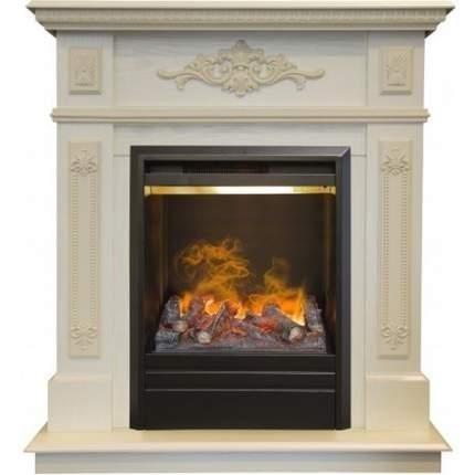 Классический камин Real-Flame Lilian STD/EUG WT с очагом 3D Olympic