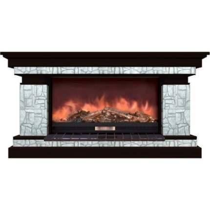 Камин электрический Glenrich Брайтон 86 (Premier S86) камень-Старый город/цвет-Венге
