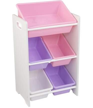 Система хранения с 5 контейнерами KidKraft пастель