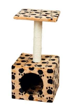 Комплекс для кошек Пушок Квадратный Бежевый с лапками
