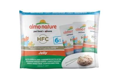 Влажный корм для кошек Almo Nature HFC Jelly, тунец, 6шт, 55г