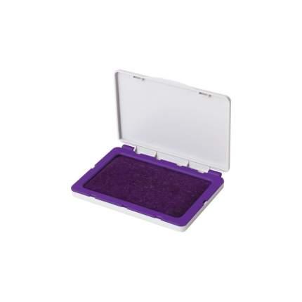 Штемпельная подушка BRAUBERG 236868, 120х90 мм (рабочая поверхность 110х70 мм), фиолетовая