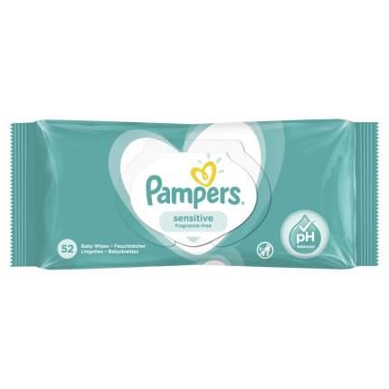Детские влажные салфетки Pampers Sensitive 52 шт.