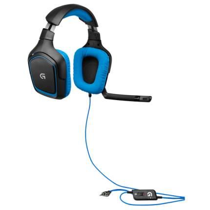 Игровые наушники Logitech Gaming G430 Cyan/Black