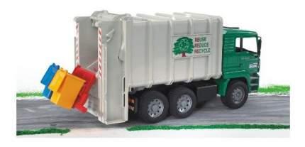 Мусоровоз MAN цвет кузова белый, кабины – зеленый подходит модуль со звуком и светом H