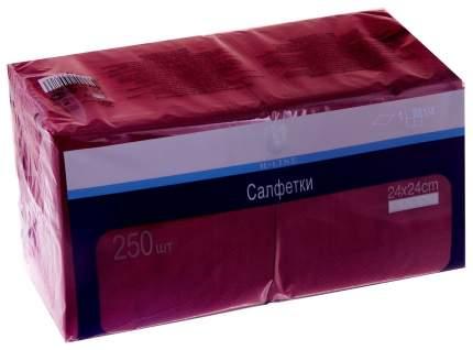 Бумажные салфетки H-Line однослойные бордовые 24*24 см 250 штук