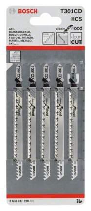 Набор пилок для лобзика Bosch T 301 CD, HCS 2608637590