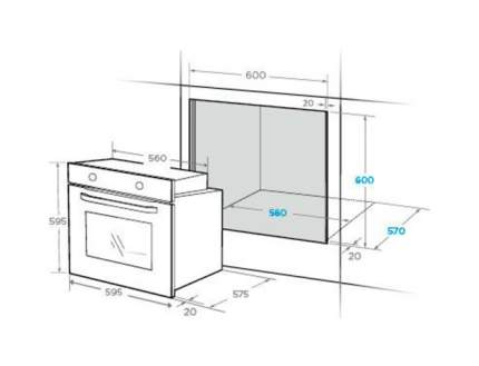 Встраиваемый электрический духовой шкаф Midea MO68111X Silver/Black