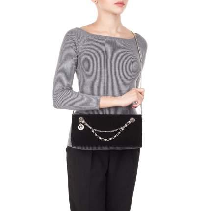 Клатч женский кожаный Marina Creazioni 3204 Nero/Argento