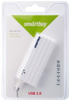 USB hub, хаб разветвитель-концентратор, 4 порта Af*2,0, Smartbuy 6810, белый